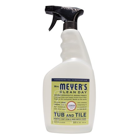 Mrs. Meyer's Clean Day Tub and Tile Cleaner, Lemon Verbena Scent, 33 ounce bottle (Pack of (Best Bathroom Tub And Tile Cleaner)