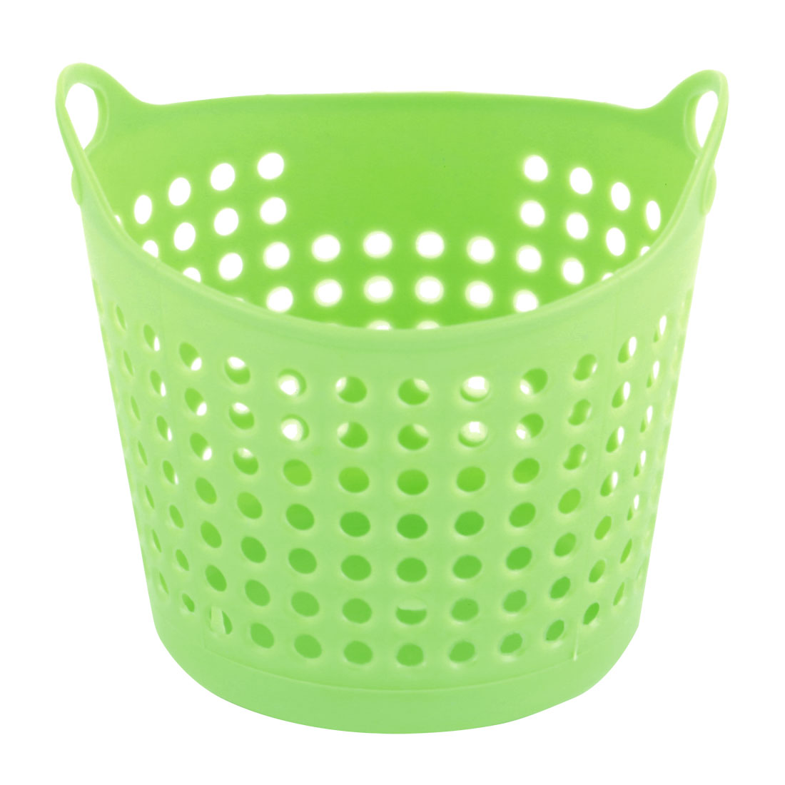 Family Office Plastic Hollow Out Pen Glasses Desk Table Storage Box Basket Green