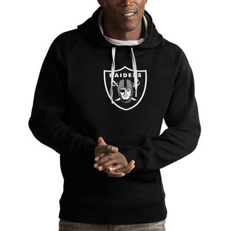 - Men's Antigua Black Oakland Raiders Victory Pullover Hoodie