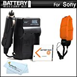 Battery And Charger Kit For Sony Cyber_Shot DSC_TX10, DSC...