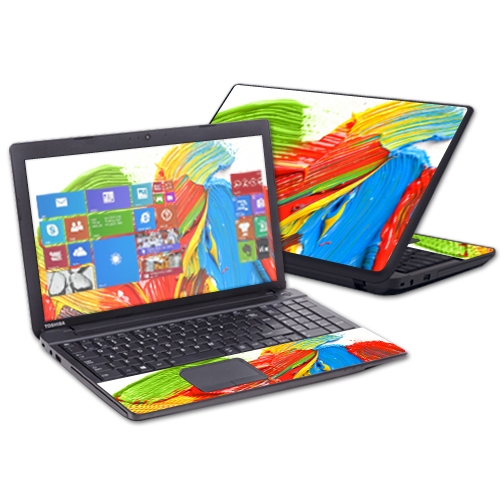 """MightySkins Protective Vinyl Skin Decal for Toshiba Satellite C50 C55 C55T C55D 15.6"""" wrap cover sticker skins Paint Strokes"""