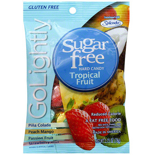 Go Lightly Sugar Free Tropical Fruit Hard Candy, 2.75 oz (Pack of 12)
