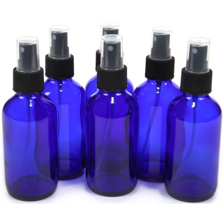 - Vivalpex, 6 Cobalt Blue 4 oz Glass Bottles with Fine Mist Sprayers