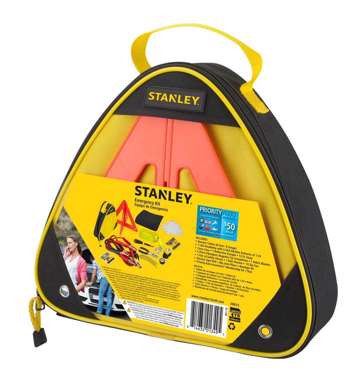 Stanley ERK1S Emergency Roadside kit with Booster Cables