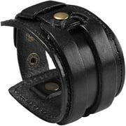 Marshal Black Brown Leather Cuff Bracelet Punk Braided Bracelets Rock Leather Wristbands Gothic Adjustable Wrap Bracelet for Men Women