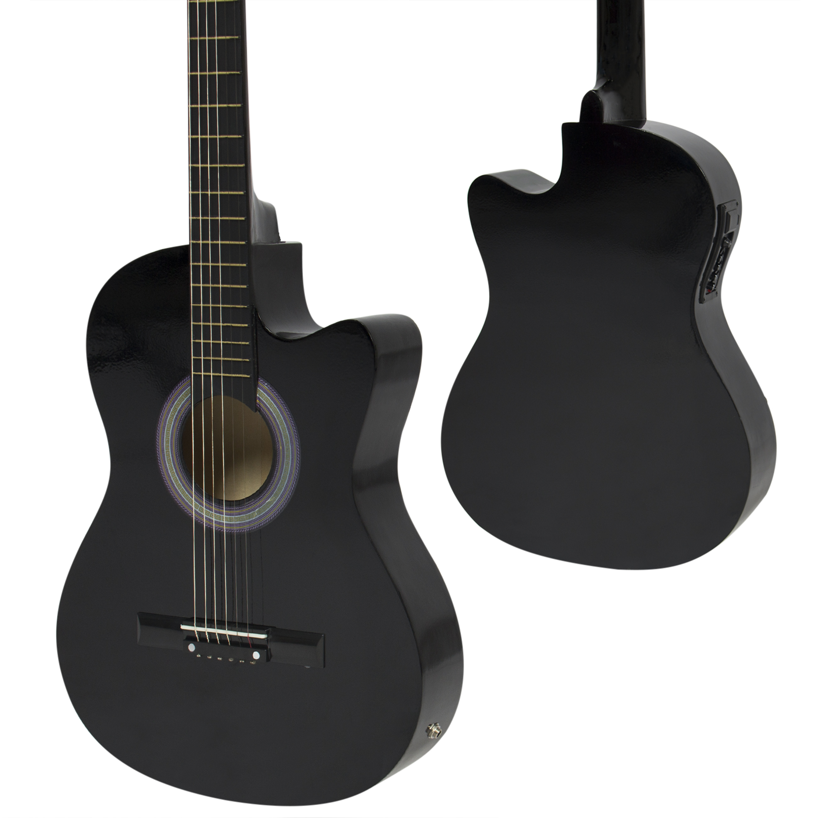 best choice products 38in beginners acoustic cutaway guitar w case