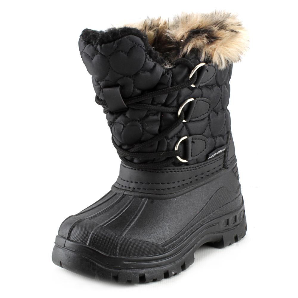 Rugged Bear Winter Snow Boot Youth US 7 Black Snow Boot