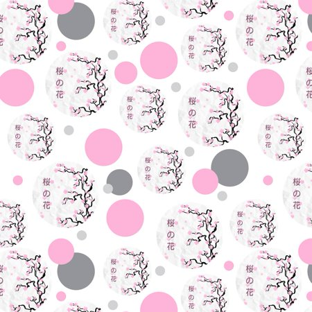 Cherry Blossom Tree Pink Japanese Premium Gift Wrap Wrapping Paper Roll Pattern Cherry Blossom Wrapping Paper