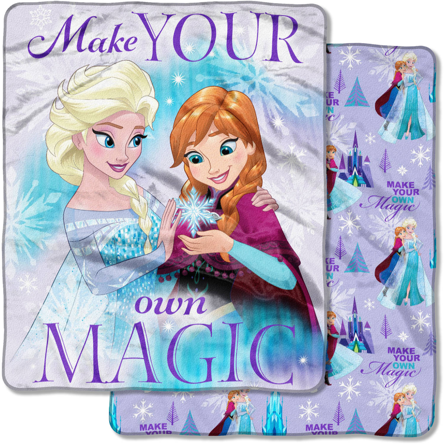 "Disney's Frozen, ""Make Magic"" 50""x 60"" Double Sided Cloud Throw"