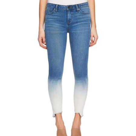 Dip Dyed Denim (Womens Step-Hem Stretch Dip-Dyed Jeans 25 )