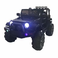 12V Battery Powered Kids Ride On Car Jeep with Led Light Remote Control for 3-8 Years old Ride on Toys