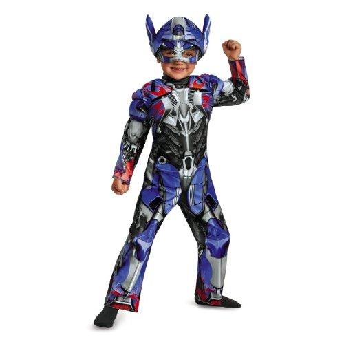 Disguise Hasbro Transformers Age of Extinction Movie Optimus Prime Toddler Muscle Costume, Small/2T