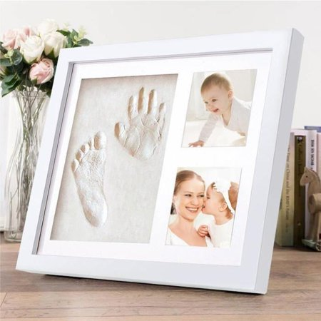 Top Boutique Baby Handprint Kit & Footprint Kit Clay Picture Frame ...