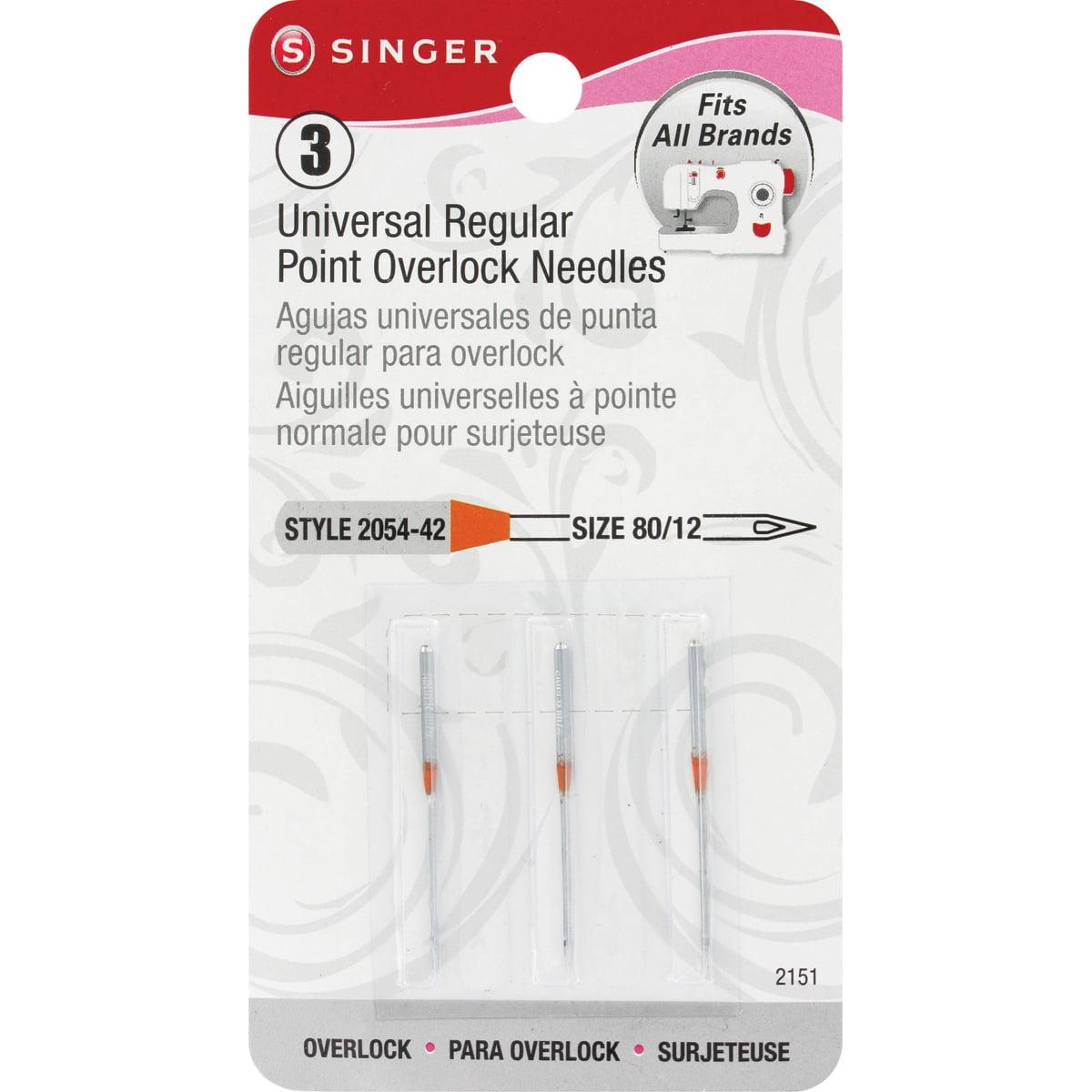 Needles for SINGER OVERLOCK  1 Pack 10 Needles 2054 #12//80