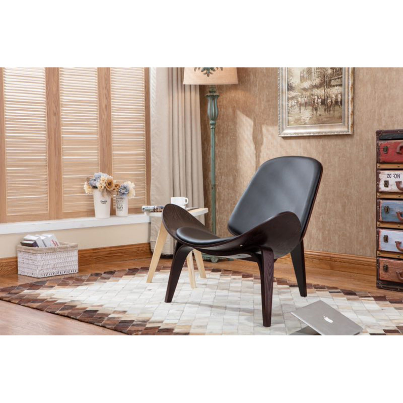 Boraam 98368 Vintage Style Shell Side Chair