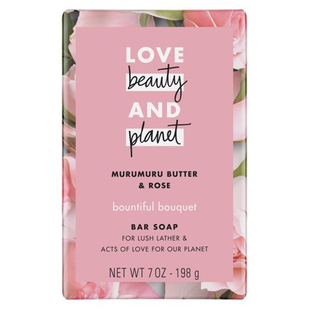 Love Beauty And Planet Bountiful Bouquet Bar Soap Murumuru Butter and Rose 7 oz