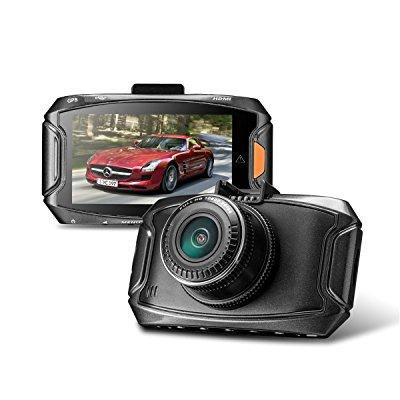 car dvr traveling driving data recorder camcorder vehicle camera with gps adaptor-hdr super night vision, 170 wide angle, g-sensor & parking monitor by