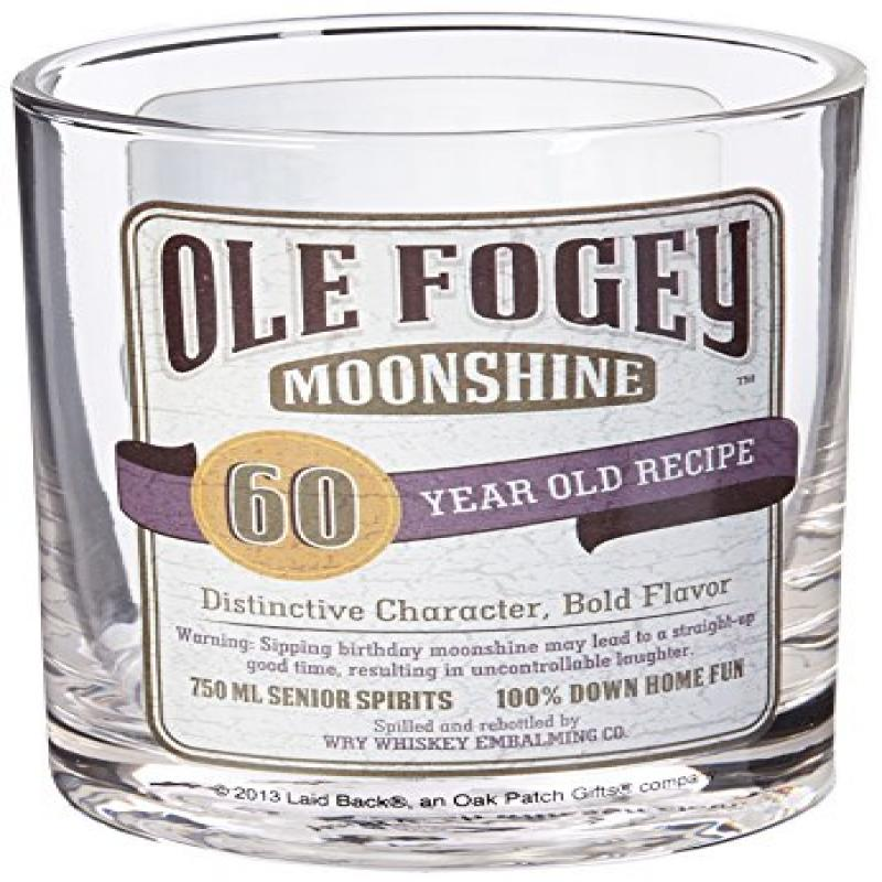 Laid Back CF1307 60th Birthday Ole Fogey Cocktail Glass, 11-Ounce by