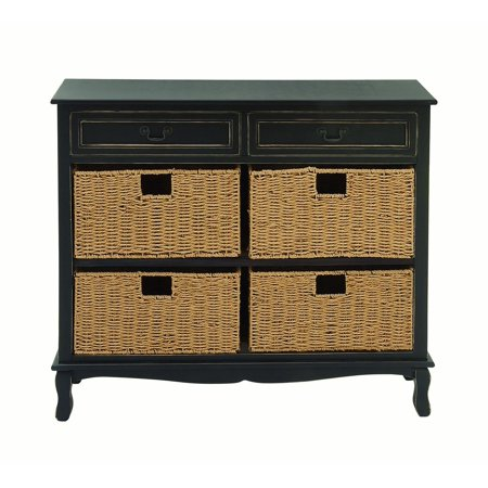 Decmode Farmhouse 36 X 40 Inch Black Painted Wooden Chest