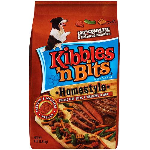 Kibbles 'N Bits Beef & Vegetable Dry Dog Food,  4 lb