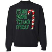 It's Not Going To Lick Itself   Mens Christmas Crewneck Sweatshirt