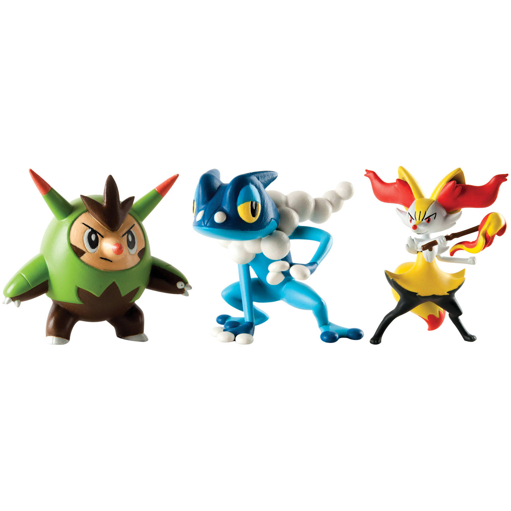 TOMY Pokemon Action Pose Figure 3-Pack. Quilladin Braixen and Frogad