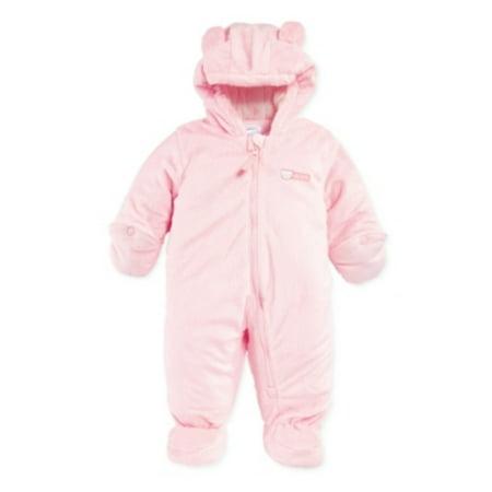 84e0750a2 Carters - Carters Infant Girls Plush Pink Snowsuit Baby Pram Snow Suit -  Walmart.com