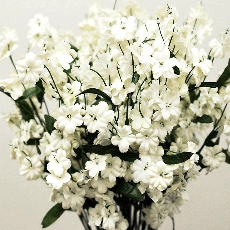 BalsaCircle 12 Bushes Baby Breath Silk Filler Flowers - DIY Home Wedding Party Artificial Bouquets Arrangements Centerpieces