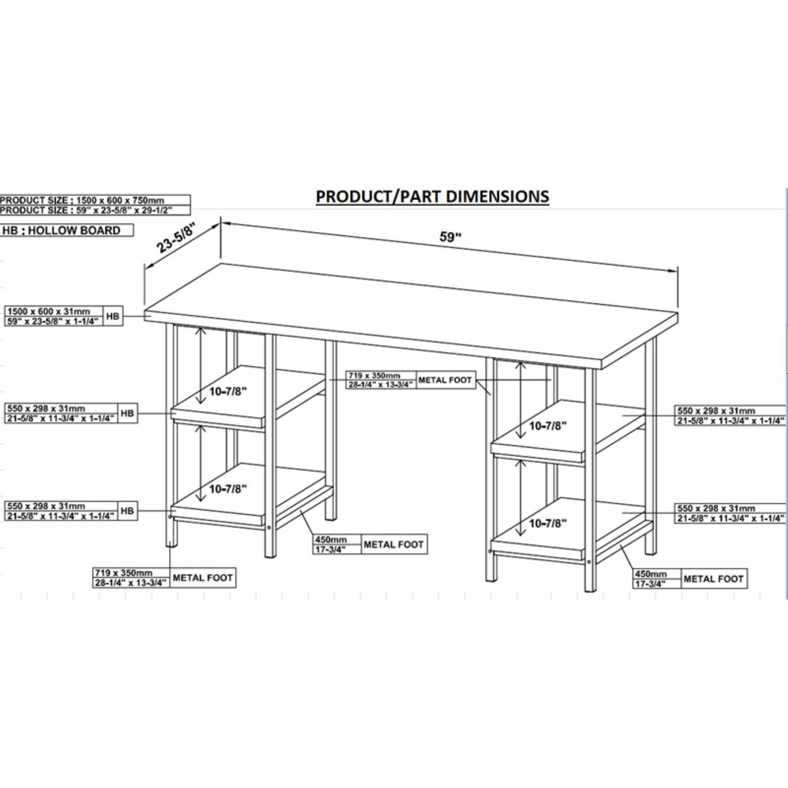 97817e6c20de6 Coaster Company Writing Desk
