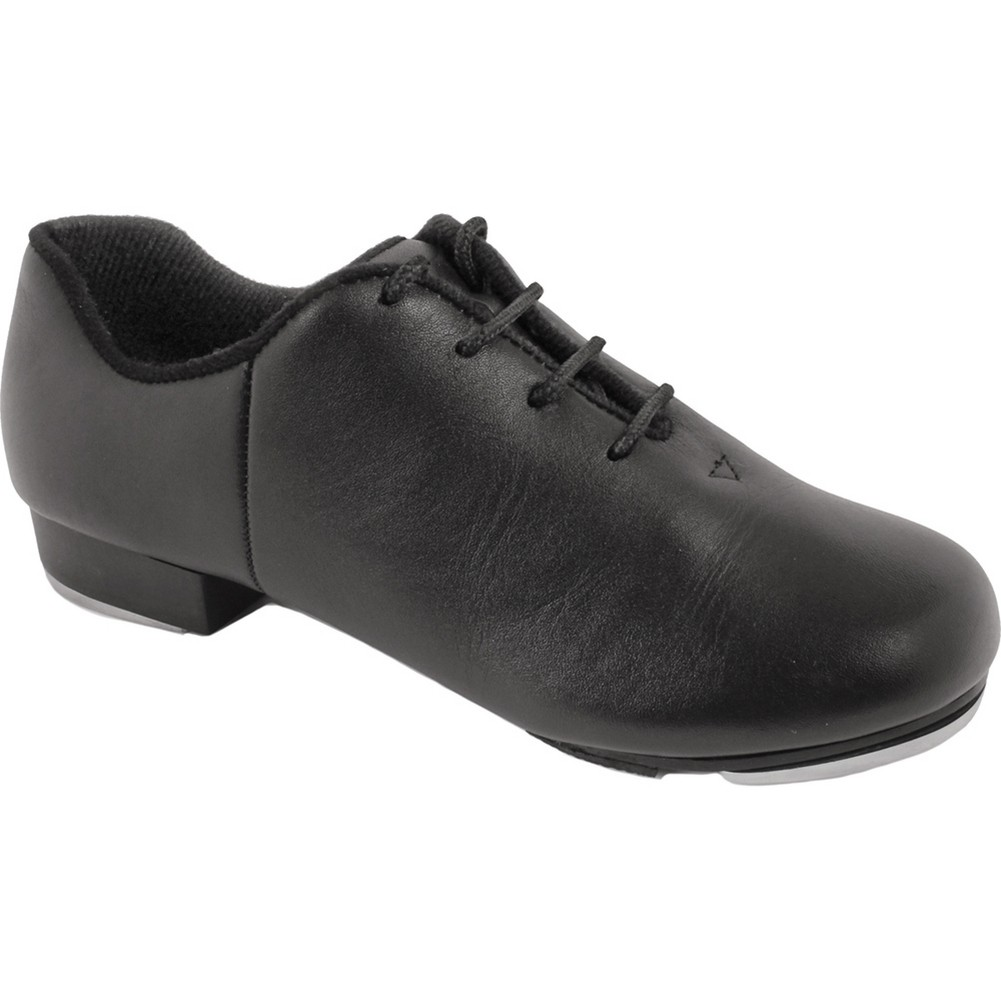 Black Leather Upper Split Sole Rhythm Tones Taps Jazz Sho...