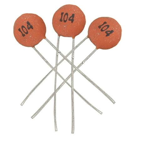 50 x 0.1uF 50V Low Voltage DIP Mounting Ceramic Disc Capacitors