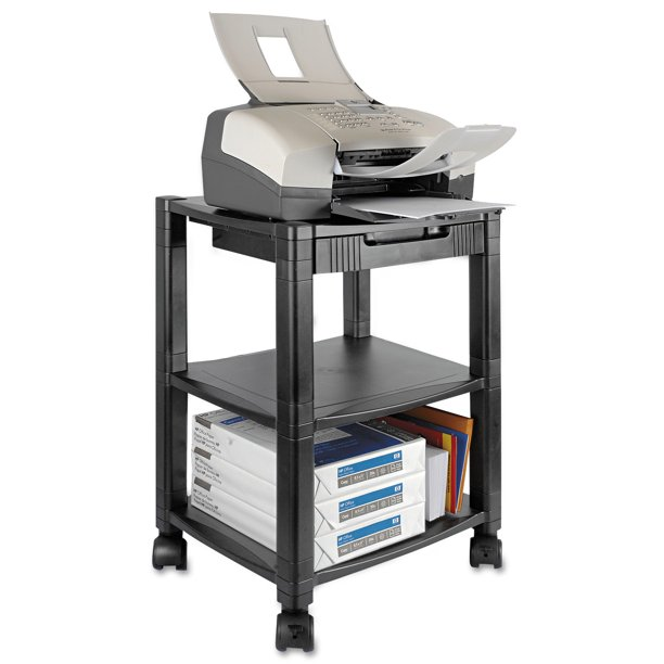 Kantek 3-Shelf Mobile Printer/Fax Stand