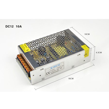 Switching Power Supply DC12V 1A 2A 3A 5A 8A 10A 15A 20A 30A AC 110V 220V 240V to DC 12 Volts AC-DC 12 V for 12V LED Strip S-120W-12V (Variable Power Supply 20a)