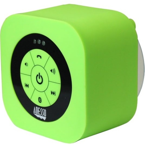 Adesso XtreamS1 Waterproof Bluetooth Speaker, Green