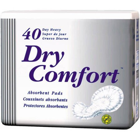 TENA Dry Comfort Day Heavy Absorbency Pads, 40 count, (Pack of 2) Dry Comfort Day Moderate Pad