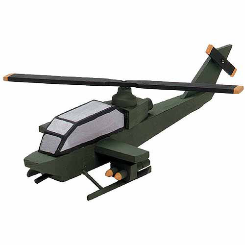 Wood Model Kit, Attack Helicopter