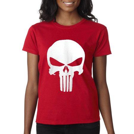 New Way 216 - Women's T-Shirt The Punisher Skull Logo