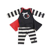 KidCuteTure Baby Girls Charcoal Stripe Lizzi Tunic Leggings Outfit Set 3-24M