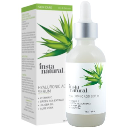 InstaNatural Hyaluronic Acid Serum, Anti Aging Hydrating Wrinkle Serum, 2 (Best Hydrating Serum Korean)