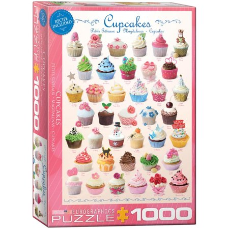 Cupcakes 1000 Piece Puzzle Jigsaw Puzzle - 19x26.5