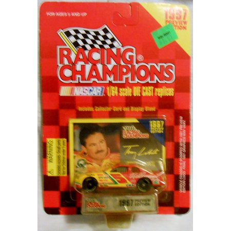 1997 Terry Labonte #5 Kellogg's 1:64 Scale Die Cast Replica with Collector Card and Display Stand Preview Edition, Racing Champions Terry Labonte #5.., By Racing Champions