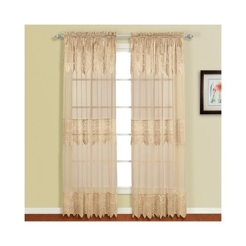 Valerie Macrame Lace Rod Pocket Curtain Panel