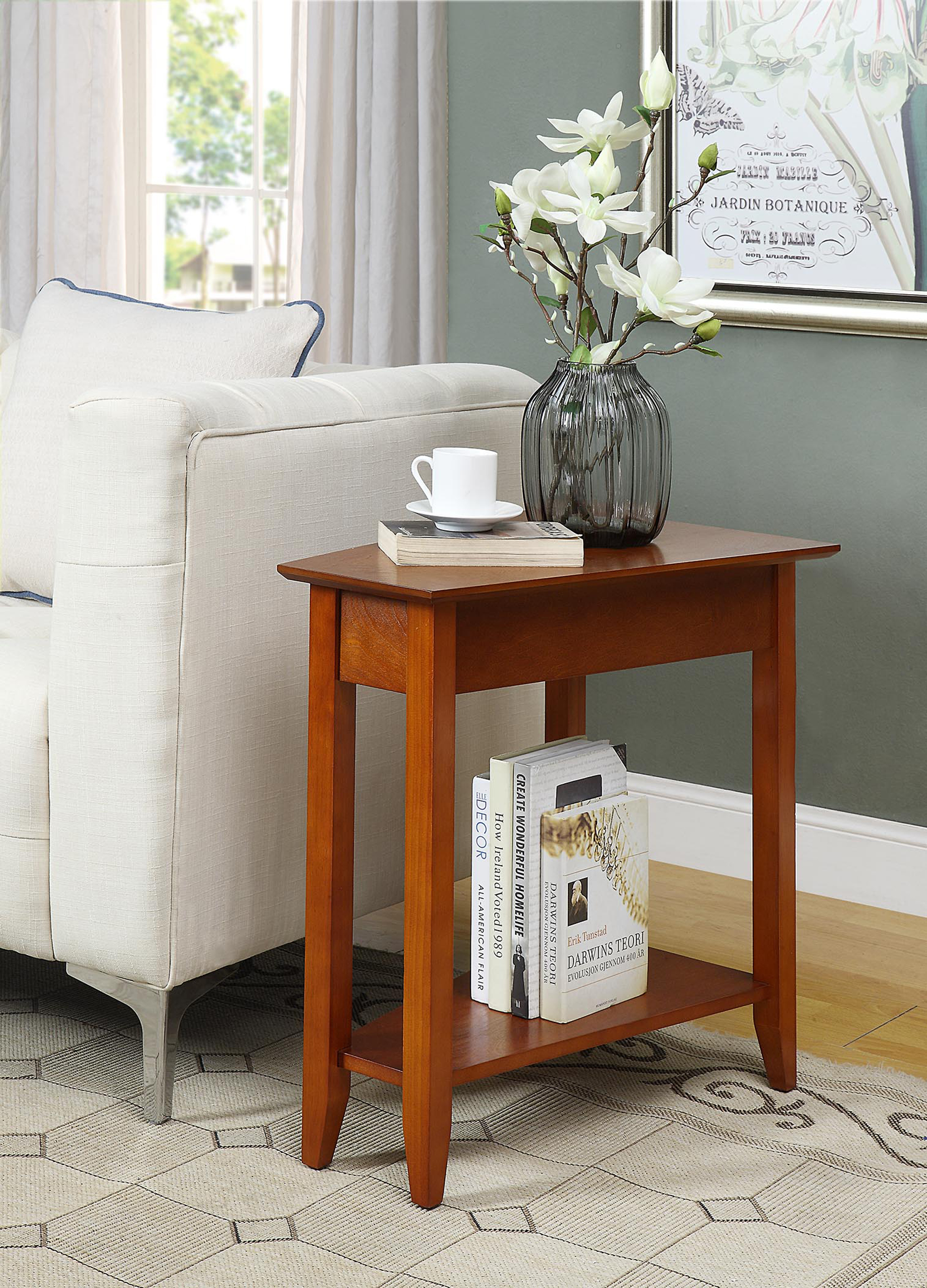 Convenience Concepts American Heritage Wedge End Table Walmart