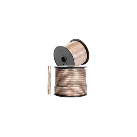 - 14AWG Clear Jacket Loud Speaker Wire Cable – 100 Feet