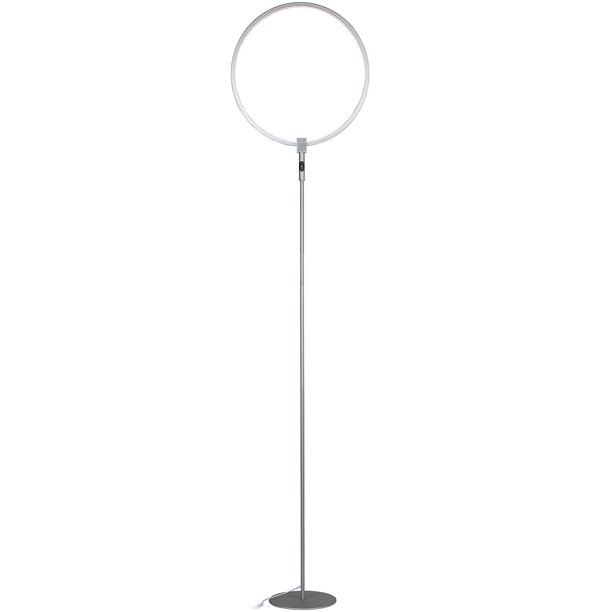 Brightech Eclipse Led Floor Lamp Single Ring Ring Of Light Brings Sci Fi Ambiance To