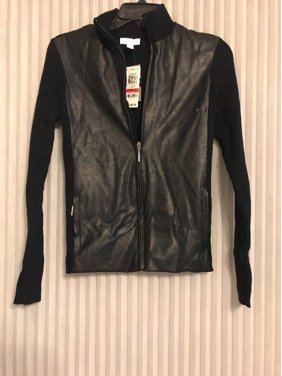 72a1b5d59fb3 Product Image Charter Club Women's Genuine Leather Jacket Black Size XS  Ship N 24h