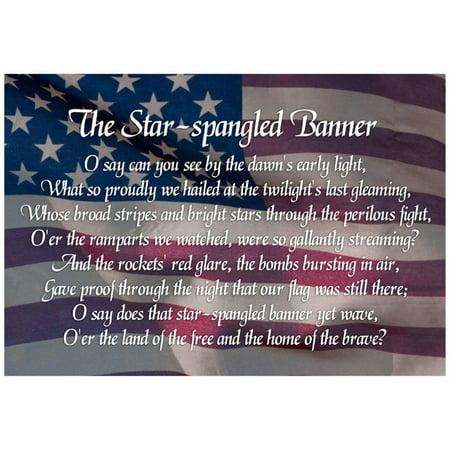 Star-spangled Banner Lyrics Poster - 19x13 (The Star Spangled Banner In Modern Words)