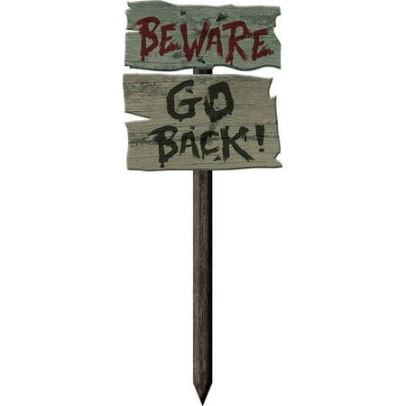 Halloween Garden Stakes (Beware Go Back Yard Stake)