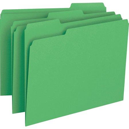Smead File Folder, 1/3-Cut Tab, Letter Size, Green, 100 per Box (12143)