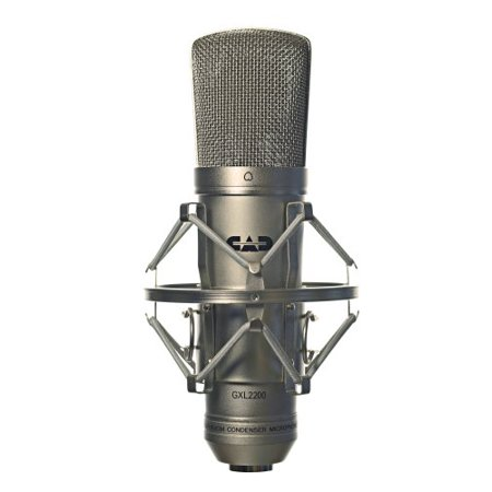 CAD GXL2200 Cardioid Condenser Microphone + Pop Filter Goosneck + M-Audio M Track C Series 2x2 Audio Interface + Technology Balanced interconnect XLR3F to XLR3M 5' Cable - Top Value